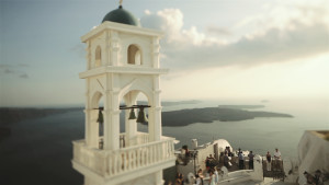 wedding video santorini